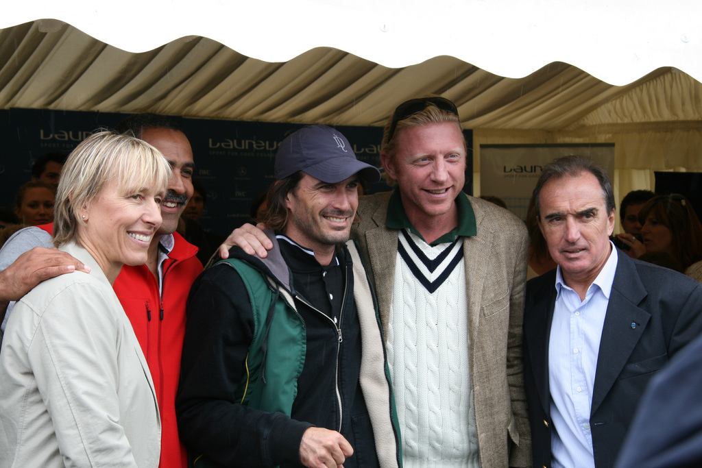 Martina Navratilova, Daley Thompson, Adolfo Cambiaso, Boris Becker and Hugo Porta at the 2007 Laureus day at Ham Polo Club, London