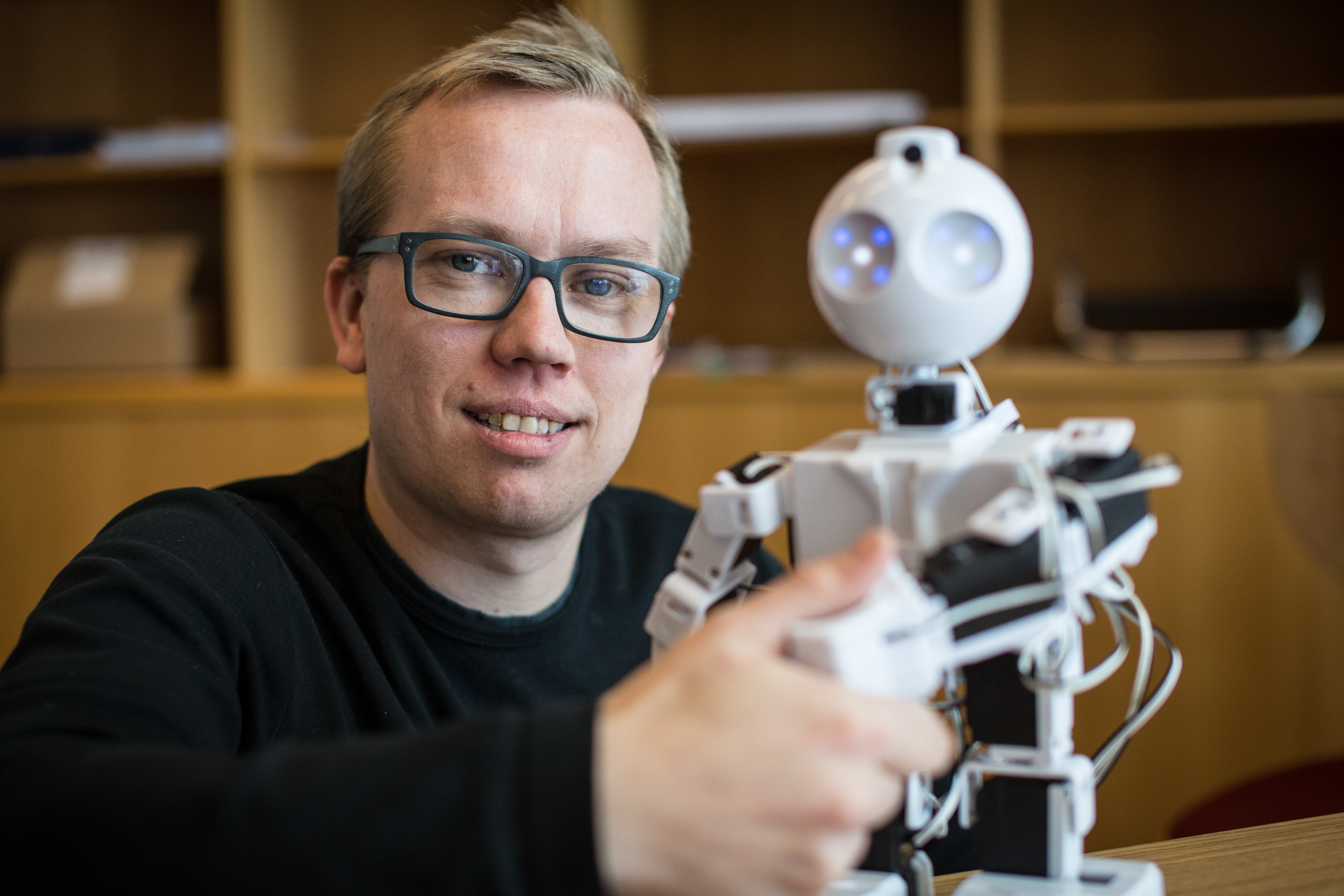 Lars Christian Jensen and the EZ-Robot.