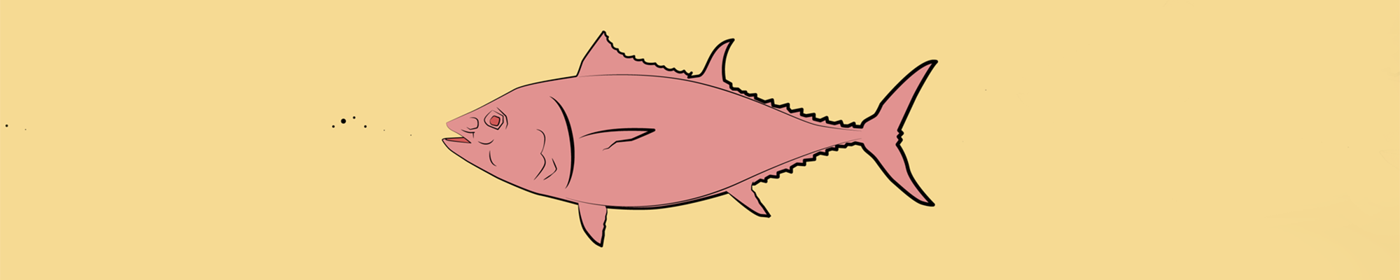 Graphic illustration of a tuna