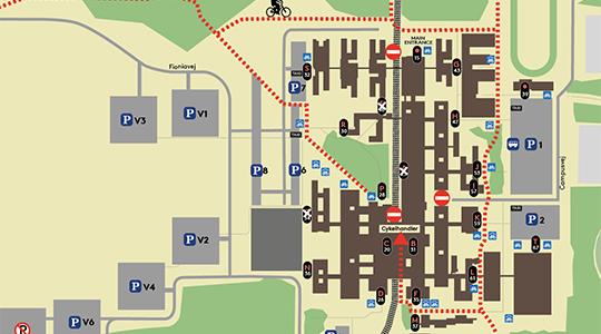 Cykelruter Og Cykelparkering Pa Sdu Odense Syddansk Universitet