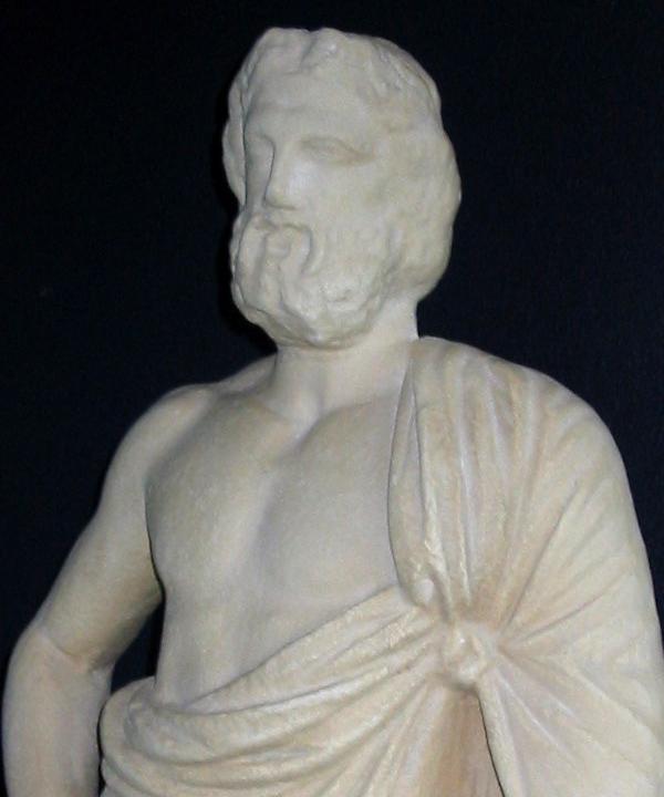 Asklepios-statuette. Græsk, begyndelsen af 300-tallet f.Kr.