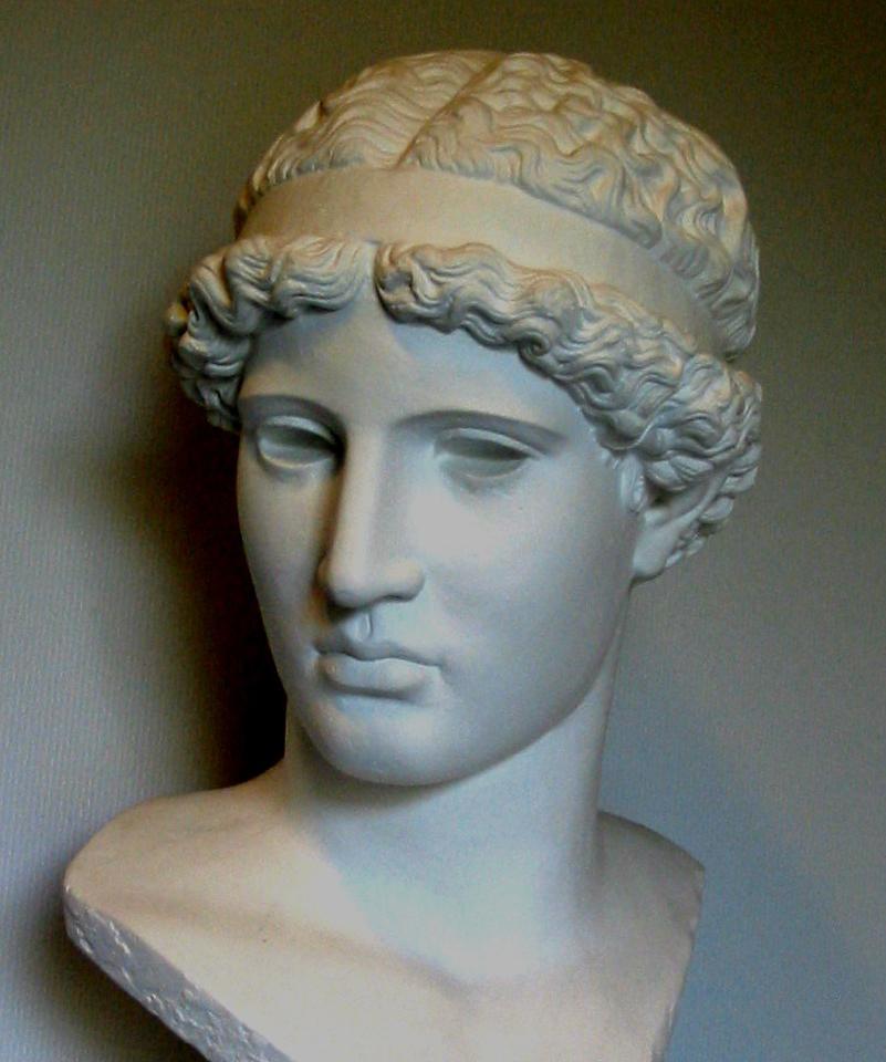 Athena Lemnia. Romersk kopi af græsk bronzeoriginal fra 400'erne f.Kr.