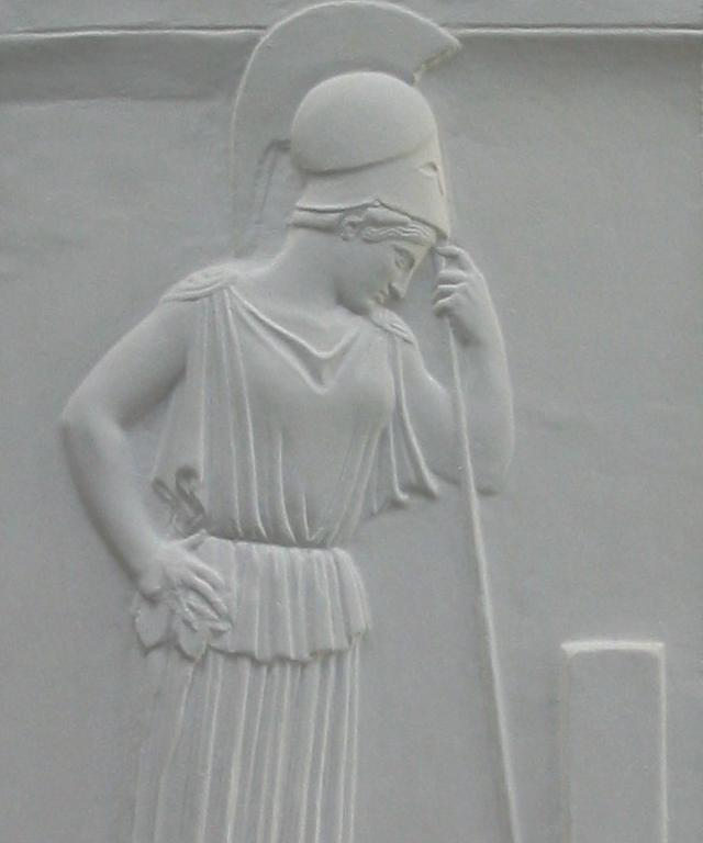 Den sørgende Athene (votivrelief). Græsk, 470-460 f.Kr.
