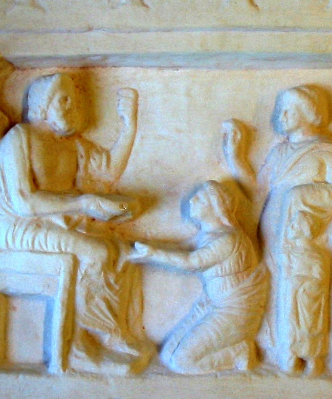 Votivrelieffer til Zeus. Græske, 300-tallet f. Kr.
