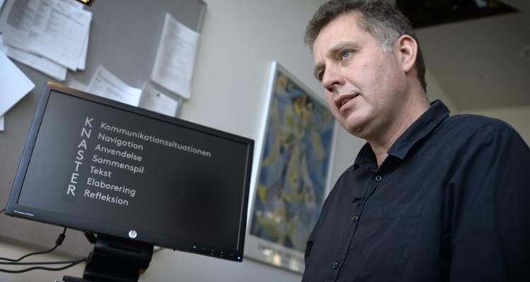 Lektor Jens Jørgen Hansen mener, det er en myte, at børn er digitale indfødte. Foto: Michael Yde Katballe