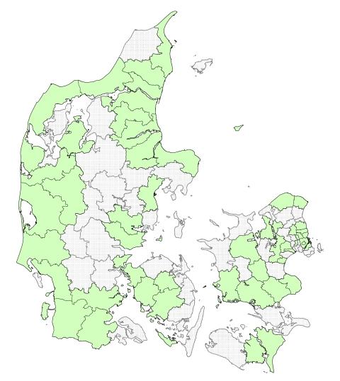 52 deltagende kommuner i projektet Fremtidens Idrætsfaciliteter