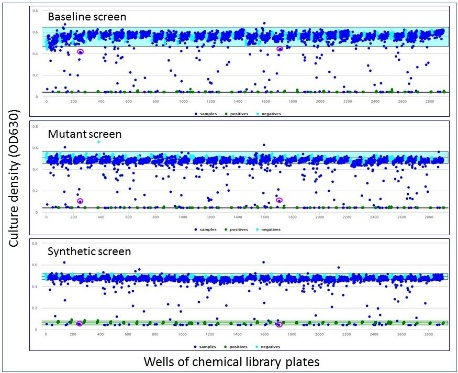 Results of a high-throughput screen of Caulobacter crescentus against the Prestwick Chemical Library