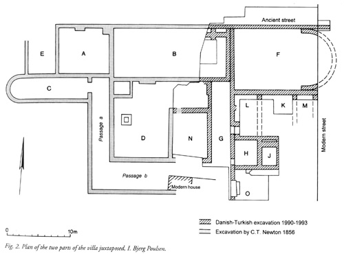The two sets of rooms in one plan.