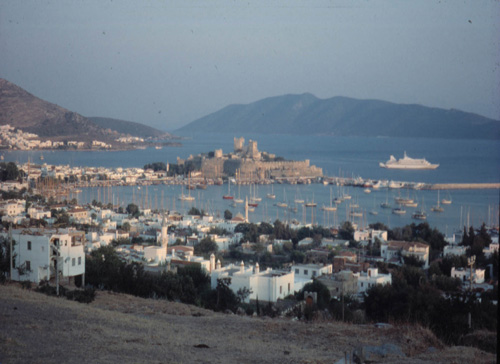 View of modern Bodrum, ancient Halikarnassos, from the North