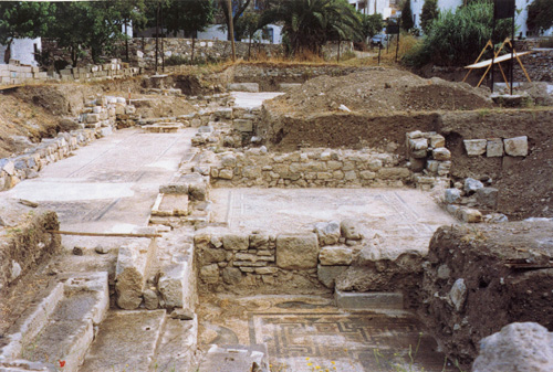 View of the excavated area seen from the south.