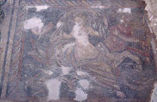 Room O - nereid riding on the back of an ichthyocentaur.