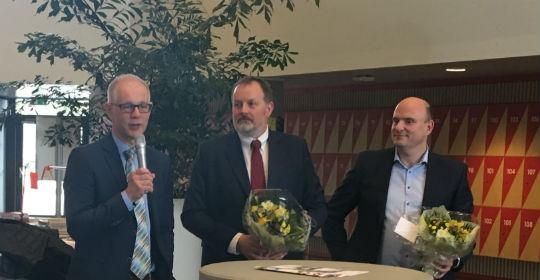 De tre nye professorer: Christian Backer Mogensen, Søren Mikkelsen og Mikkel Brabrand