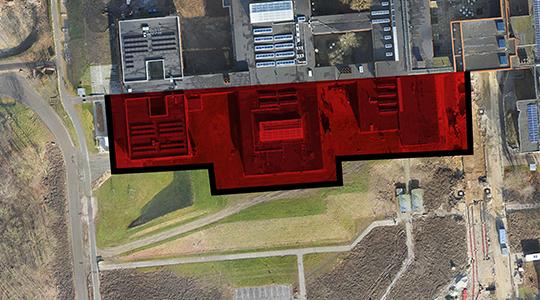 Rød markering på kort viser oversigt over, hvor der arbejdes på SUND.