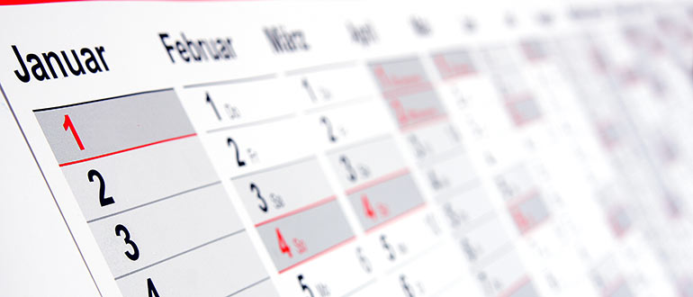 Kalender  - Tidspunkter hvor du kan møde SDU